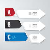 Modern infographics design options banner. Vector illustration. Can be used for workflow layout, diagram, number options, graphic or website layout vector royalty free illustration