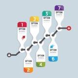 Modern infographics design options banner. Vector illustration. Royalty Free Stock Photos