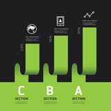 Modern infographics design options banner. Vector illustration. Can be used for workflow layout, diagram, number options, graphic or website layout vector Stock Images