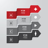Modern infographics design options banner. Vector illustration. Stock Photos