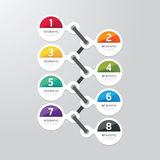 Modern infographics design options banner. Vector illustration. can be used for workflow layout, diagram, number options, graphic or website layout vector Royalty Free Stock Photos