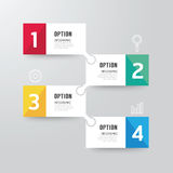 Modern infographics design options banner. Vector illustration. Can be used for workflow layout, diagram, number options, graphic or website layout vector Stock Photography