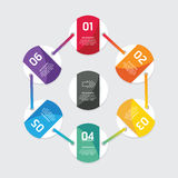 Modern infographics design options circle banner. Vector illustr. Ation. can be used for workflow layout, diagram, number options, graphic or website layout Stock Images