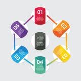 Modern infographics design options circle banner. Vector illustr Stock Images