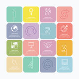 Modern infographics design options mono line with soft colour ba Royalty Free Stock Image