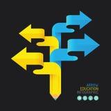 Modern infographics design pencil arrow options banner Stock Image