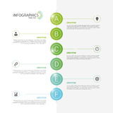Modern infographics. Design template. Vector Royalty Free Stock Image