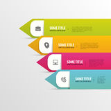 Modern infographics element template. Vector Royalty Free Stock Image