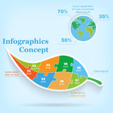 Modern infographics global template for 8 options. Stock Photo