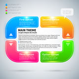 Modern infographics layout with 4 colorful options. Royalty Free Stock Photos