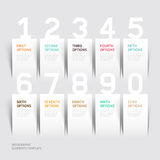 Modern infographics number options template. Royalty Free Stock Images