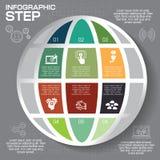 Modern infographics option banner. Abstract world map EPS 10 Stock Photo