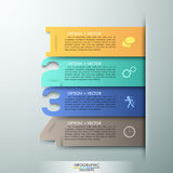 Modern infographics options banner. Abstract infographics number options template. Vector illustration. can be used for workflow layout, diagram, business step Vector Illustration