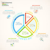 Modern Infographics Options Banner. Modern infographics options banner with colorful pie chart in outline style. Vector. Can be used for web design and Vector Illustration