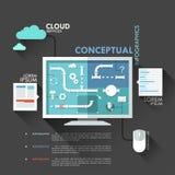 Modern Infographics Options Banner. Stock Image