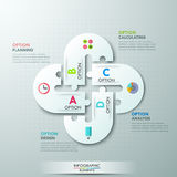 Modern infographics options banner Royalty Free Stock Image