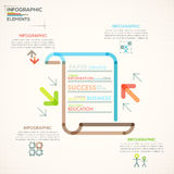 Modern Infographics Options Banner. Modern infographics options banner with paper sheet made of colorful lines in outline style. Vector. Can be used for web Stock Illustration