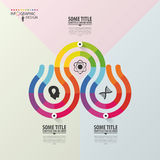 Modern infographics options banner with 3-part. Abstract design. Vector.  Royalty Free Stock Photography