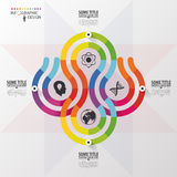Modern infographics options banner with 4-part. Abstract design. Vector Stock Photos
