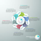 Modern infographics options banner. Modern infographics options banner with 6-part arrow process chart and icons. Vector. Can be used for web design and Vector Illustration