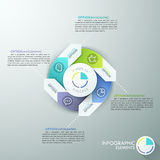 Modern infographics options banner. Modern infographics options banner with 4-part arrow process chart and icons. Vector. Can be used for web design and Royalty Free Illustration
