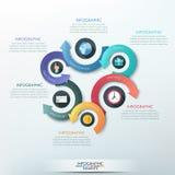 Modern infographics options banner. Modern infographics options banner with 6-part arrow process. Vector. Can be used for web design, presentations, brochures Stock Illustration