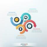 Modern infographics options banner. Modern infographics options banner with 4-part arrow process. Vector. Can be used for web design, presentations, brochures Vector Illustration