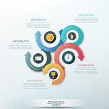 Modern infographics options banner. Royalty Free Stock Photography