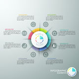 Modern infographics options banner. Modern infographics options banner with 8-part pie chart and icons. Vector. Can be used for web design and  workflow layout Royalty Free Illustration