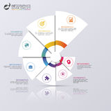 Modern infographics options banner. Spiral pie chart. Vector illustration. Can be used for web design and workflow layout Royalty Free Stock Image