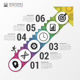 Modern infographics options banner. Stairs to success. Vector illustration Stock Photo