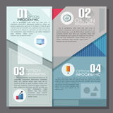 Modern infographics options banner. Modern infographics options template in minimal style made of geometric shapes. Vector. Can be used for web design and Vector Illustration