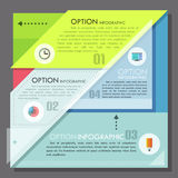 Modern infographics options banner. Modern infographics options template in minimal style made of geometric shapes. Vector. Can be used for web design and Stock Illustration