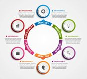 Modern infographics options banner. Royalty Free Stock Images