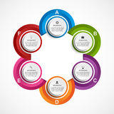 Modern infographics options banner. Stock Images