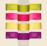 Modern  infographics options banner. Vector illustration. can be used for workflow layout, diagram, number options, web design. Eps 10 Royalty Free Stock Photos