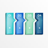 Modern  infographics options banner. Vector illustration. can be used for workflow layout, diagram, number options, web design. Eps 10 Stock Images