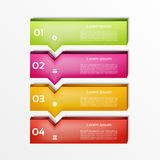 Modern  infographics options banner. Vector illustration. can be used for workflow layout, diagram, number options, web design. Eps 10 Stock Photography