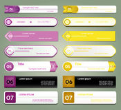 Modern infographics options banner. Vector illustration. can be used for workflow layout, diagram, number options, web design, pri Stock Photos