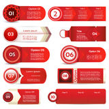 Modern infographics options banner. Vector illustration. can be used for workflow layout, diagram, number options, web design, pri. Nts Royalty Free Stock Photo