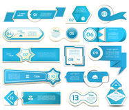 Modern infographics options banner. Vector illustration. can be used for workflow layout, diagram, number options, web design. Prints. Blue version. eps 10 stock illustration