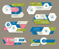 Modern infographics options banner. Vector illustration. can be used for workflow layout, diagram, number options, web design, pri Stock Images