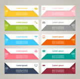Modern infographics options banner. Vector illustration. can be used for workflow layout, diagram, number options, web design, pri. Nts Royalty Free Stock Photography