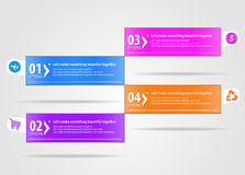 Modern infographics options banner. Vector illustration. can be used for workflow layout, diagram, number options, web design Stock Image