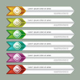 Modern infographics options banner. Royalty Free Stock Image