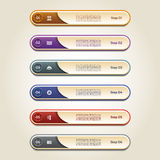 Modern infographics options banner. Vector illustration. Royalty Free Stock Photos