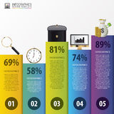 Modern infographics options. Business concept.  Stock Images