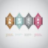 Modern infographics options design background Stock Image
