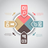 Modern infographics options layout Royalty Free Stock Photos