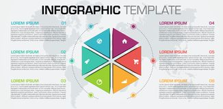 Modern infographics options template vector with colorful 3D hexagon